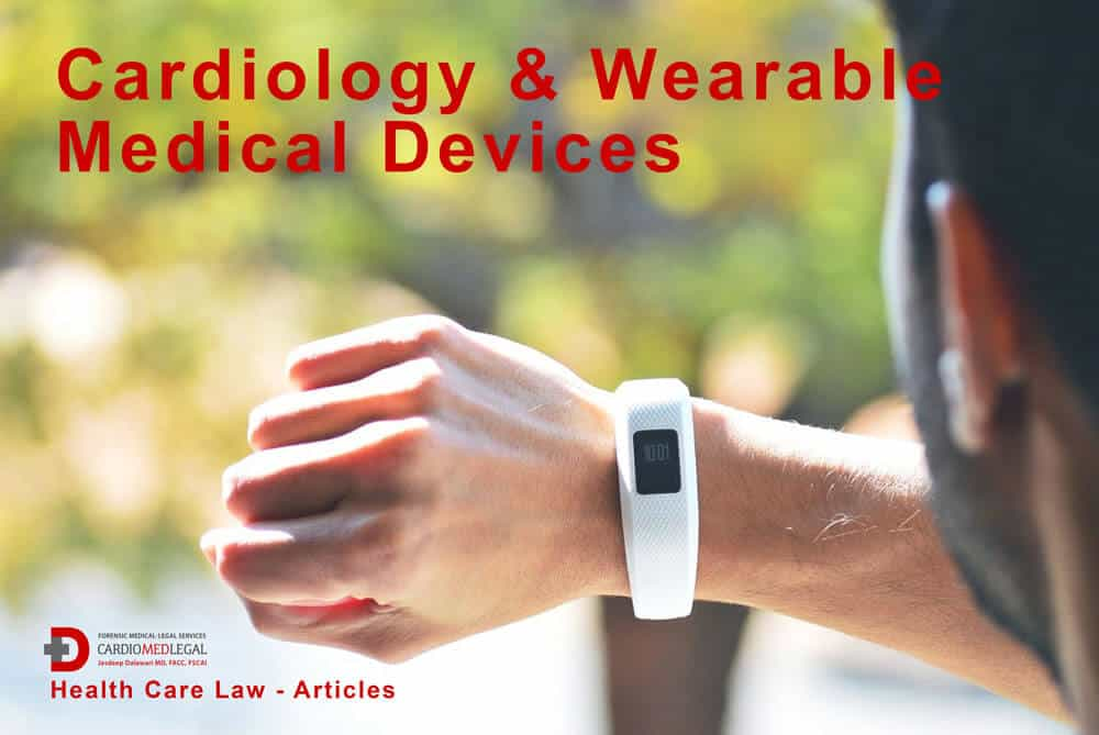 image - man looking at wearable medical device